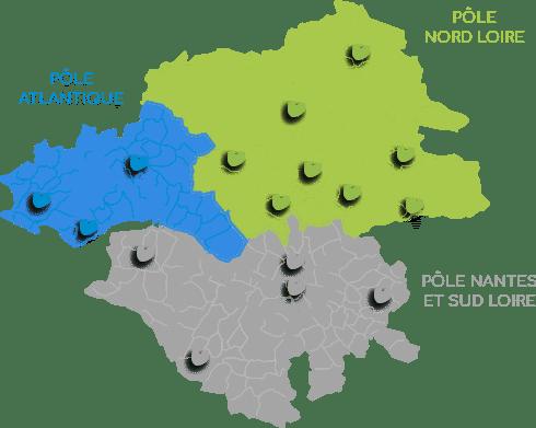 Carte ADT en Loire-Atlantique